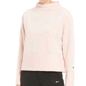 Nike ribbed mock neck training sweater